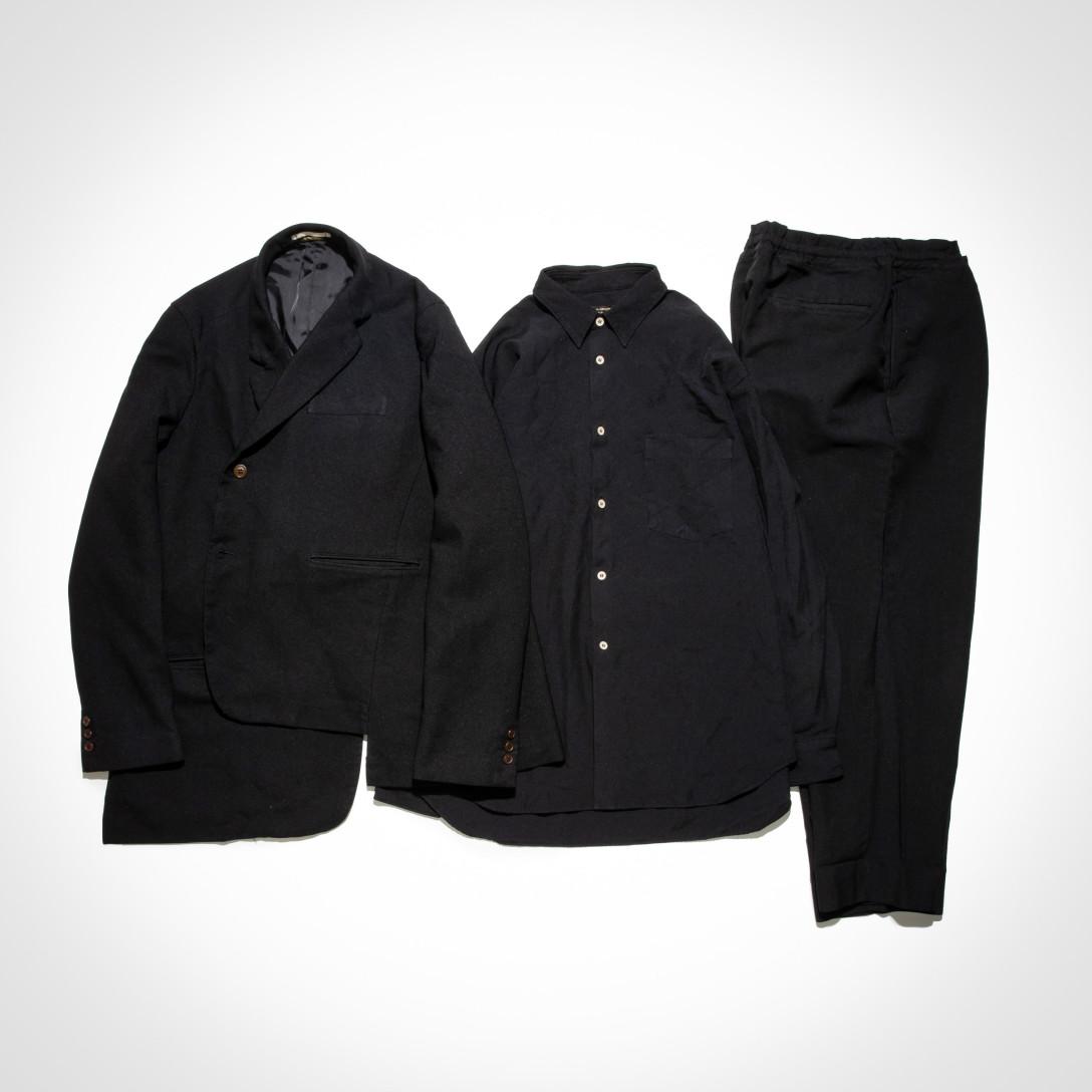 3f7404c082 COM(以下、F):今日着ているのも、同じ「コム デ ギャルソン・オム プリュス」のシャツとパンツですね。
