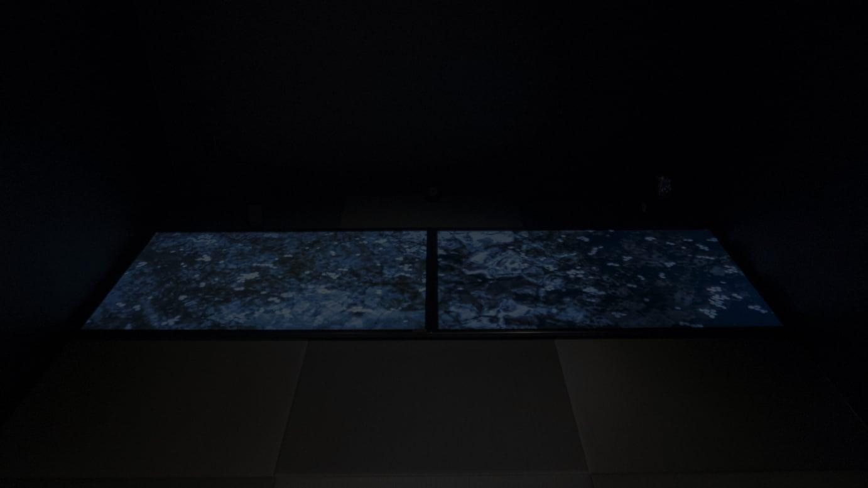 人長果月「Sakura」(インタラクティブ映像、会場:タイム堂和室)