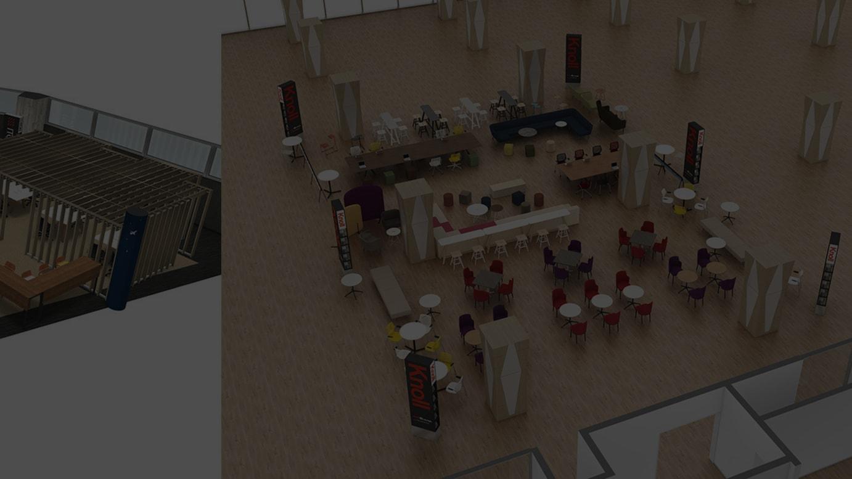 (左)ITOKI -seating area-(右)Knoll -seating area-