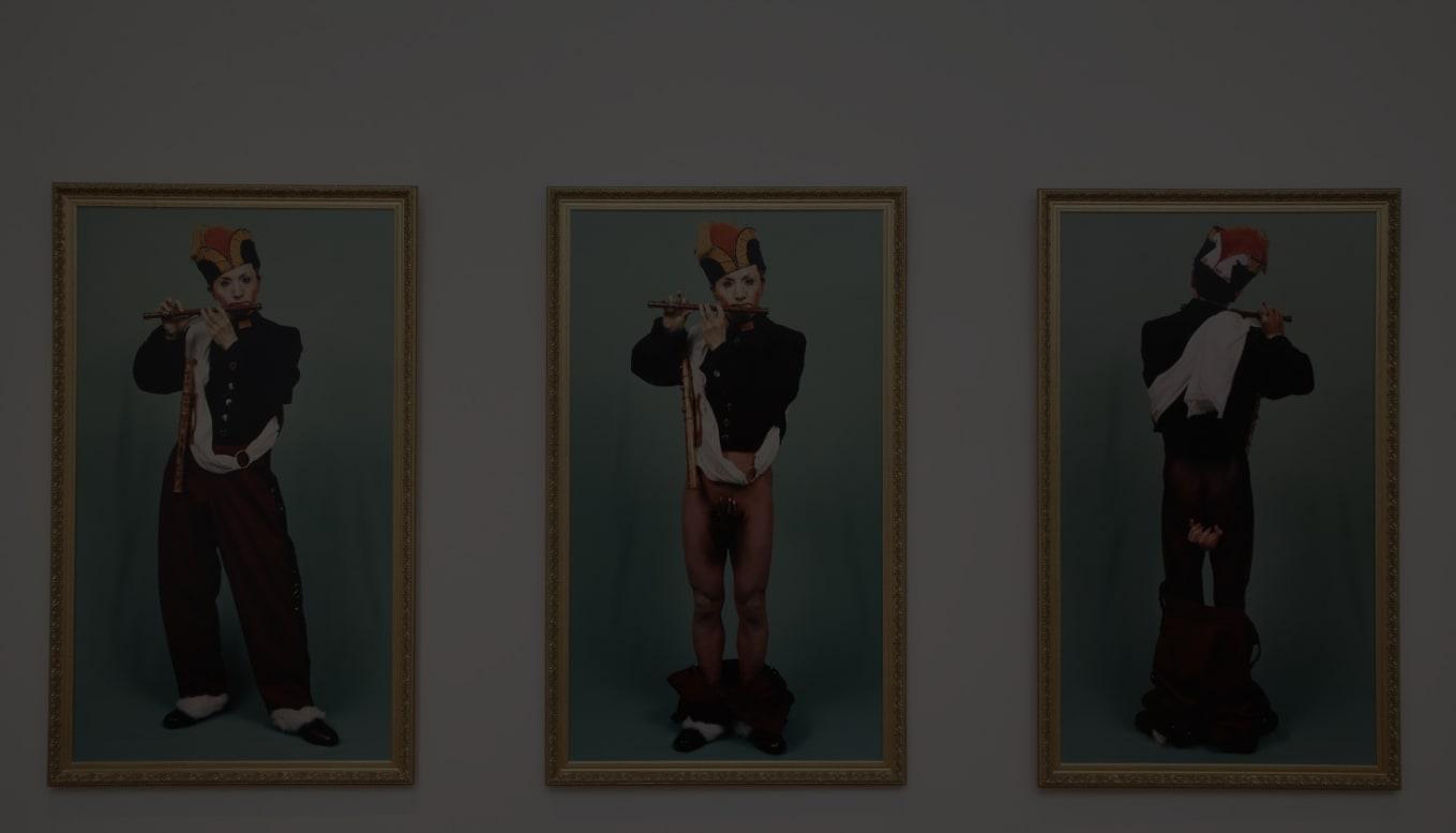 森村泰昌「肖像(少年1,2,3)」1988