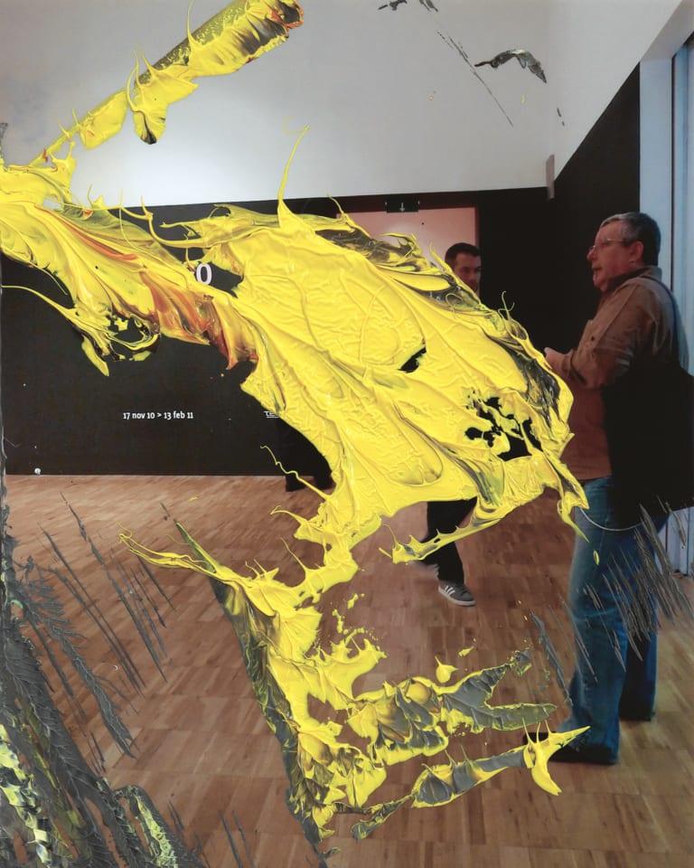 Gerhard Richter, 8. Juni 16 (2), 2016, oil on photograph, 16.8 × 12.5 cm (c) Gerhard Richter,Courtesy WAKO WORKS OF ARTGerhard Richter, 8. Juni 16 (2), 2016, oil on photograph, 16.8 × 12.5 cm (c) Gerhard Richter, Courtesy WAKO WORKS OF ART